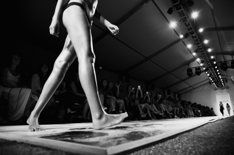A model walks the runway at the L*Space By Monica Wise show during Mercedes-Benz Fashion Week Swim 2015 at The Raleigh in Miami Beach, Florida. (Andrew H. Walker/Getty Images)