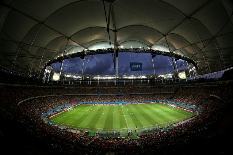The 2014 FIFA World Cup Brazil Quarter Final match between the Netherlands and Costa Rica at Arena Fonte Nova in Salvador, Brazil. (Laurence Griffiths/Getty Images)