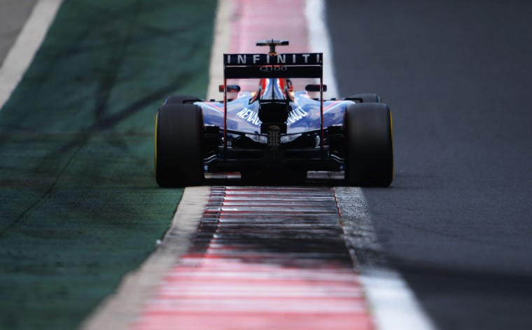 Sebastian Vettel of Germany and Infiniti Red Bull Racing drives during final practice ahead of the Hungarian Formula One Grand Prix at Hungaroring in Budapest, Hungary. (Lars Baron/Getty Images)