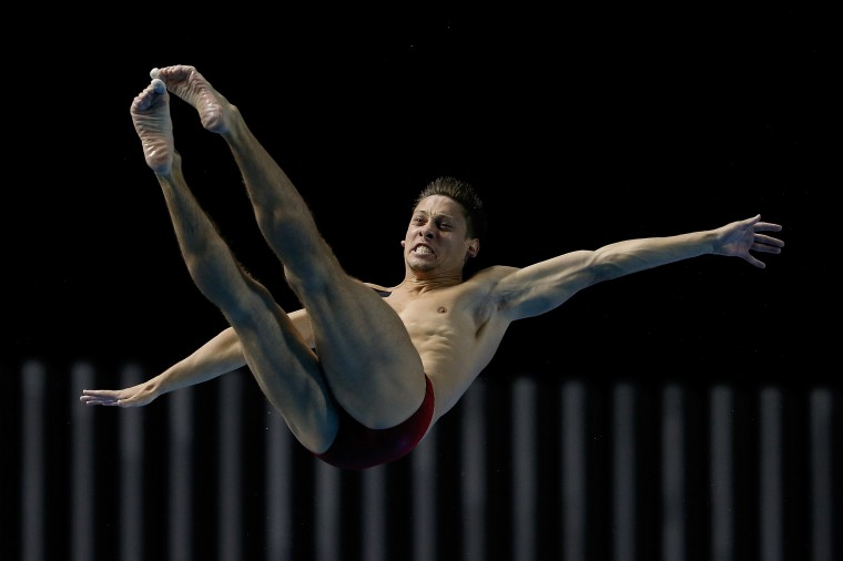 Illya Kvasha of Ukraine compete in the Men's 3m Springboard Final during day five of the 19th FINA Diving World Cup at the Oriental Sports Center in Shanghai, China. (Lintao Zhang/Getty Images)