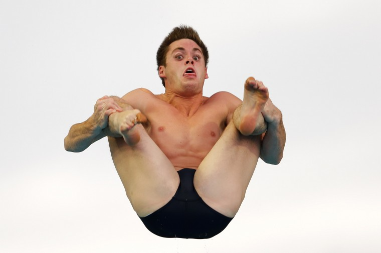 David Boudia of the United States compete in the Men's 3m Springboard Final during day five of the 19th FINA Diving World Cup at the Oriental Sports Center in Shanghai, China. (Lintao Zhang/Getty Images)