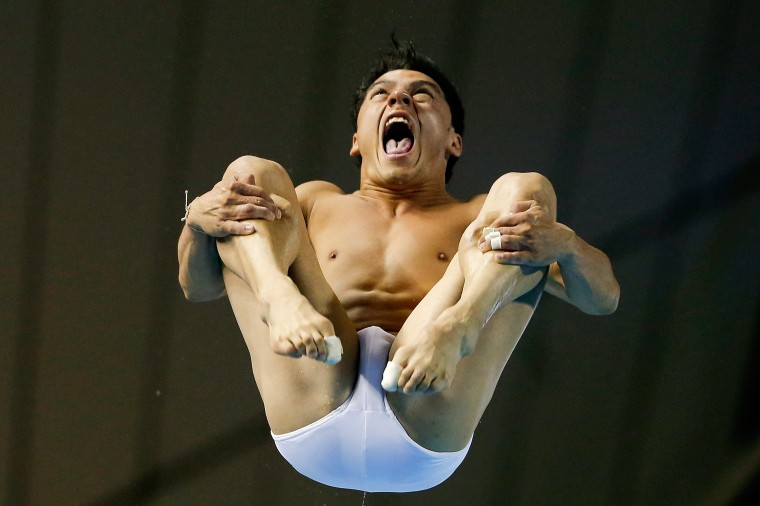 Yahel Castillo Huerta of Mexico compete in the Men's 3m Springboard Final during day five of the 19th FINA Diving World Cup at the Oriental Sports Center in Shanghai, China. (Lintao Zhang/Getty Images)