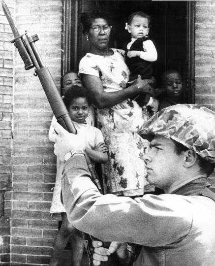 "May 25, 1969 - William LaForce, Jr., photographic director of the Sunpapers, won first place in General News category with a photo titled ""Guard on the Street."" The picture was taken after Maryland National Guard troops were called in to quell the riots in the streets of Baltimore following the assassination of Dr. Martin Luther King, Jr.(William LaForce, Jr./Baltimore Sun)"
