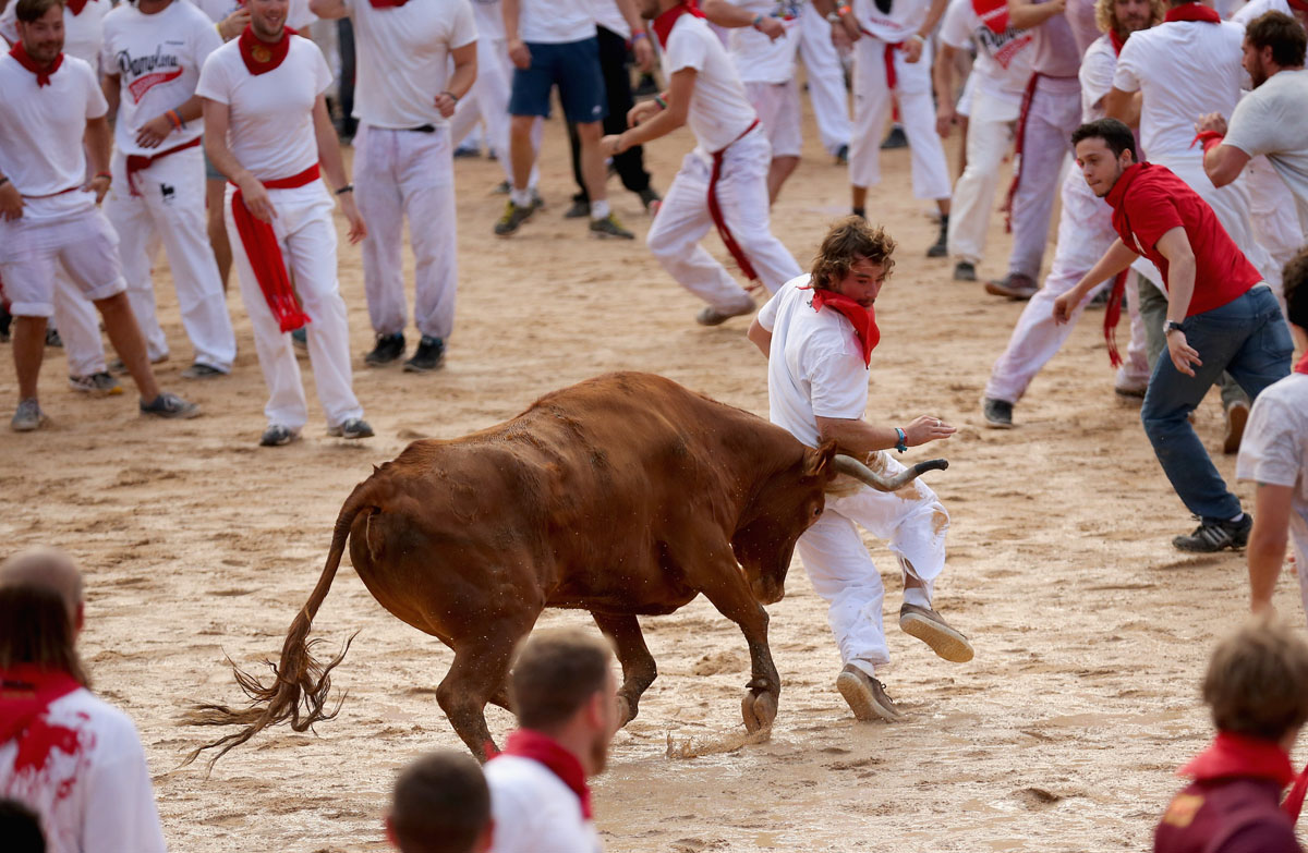2014 Running of the Bulls in Pamplona
