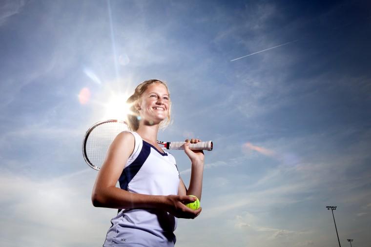 Abby Thornton, Marriotts Ridge tennis, June 2014
