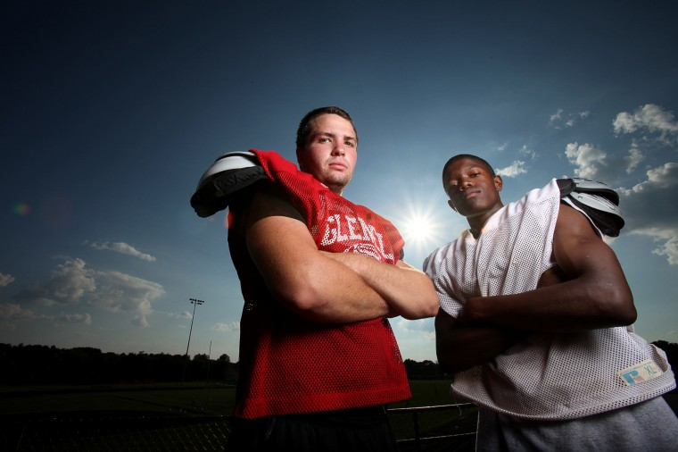 Nick Crabill, Mark Darden, Glenelg football, August 2012