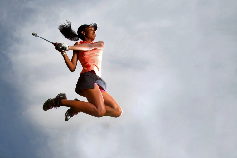 Samyra Lewis, Oakland Mills golf, August 2013