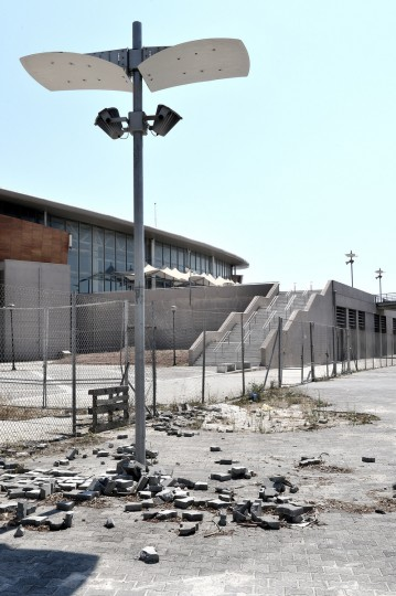 General view of the Taekwondo Olympic Stadium at Faliro Olympic Complex in Athens, Greece on July 31, 2014. (Milos Bicanski/Getty Images)