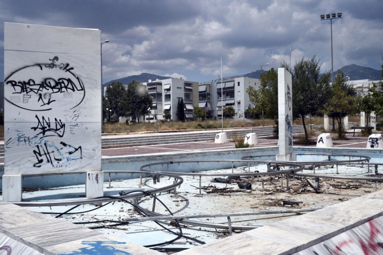 General view of the former Olympic Village in Athens, Greece on July 31, 2014. (Milos Bicanski/Getty Images)