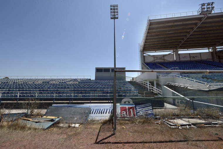 General view of the Olympic Baseball Stadium at the Helliniko Olympic complex in Athens, Greece on July 31, 2014. (Milos Bicanski/Getty Images)