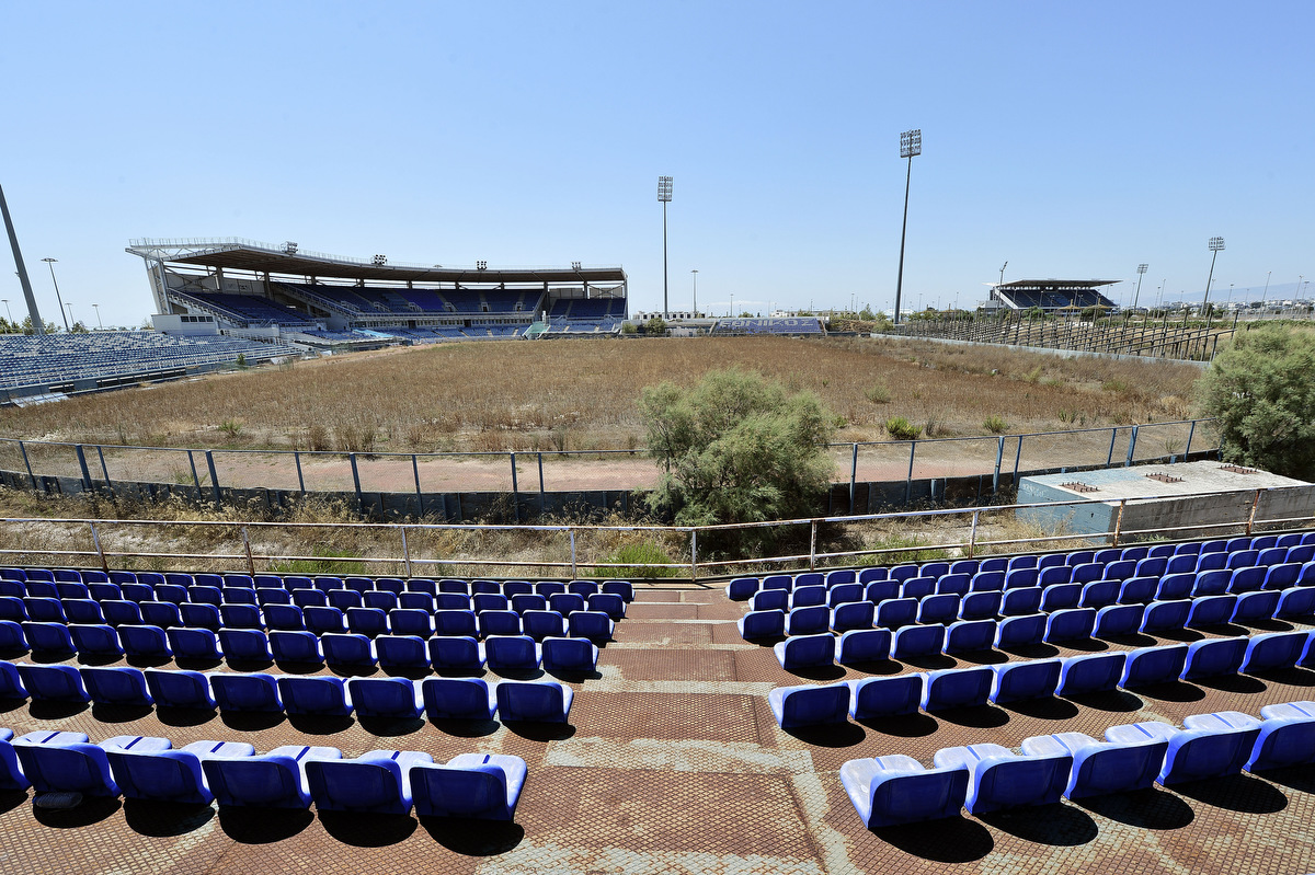 Athens olympic venues in ruins ten years after the games for The olympia