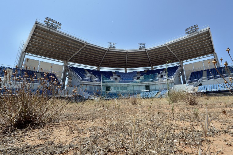 General view of the Olympic Softball stadium at the Helliniko Olympic complex in Athens, Greece on July 31, 2014. (Milos Bicanski/Getty Images)