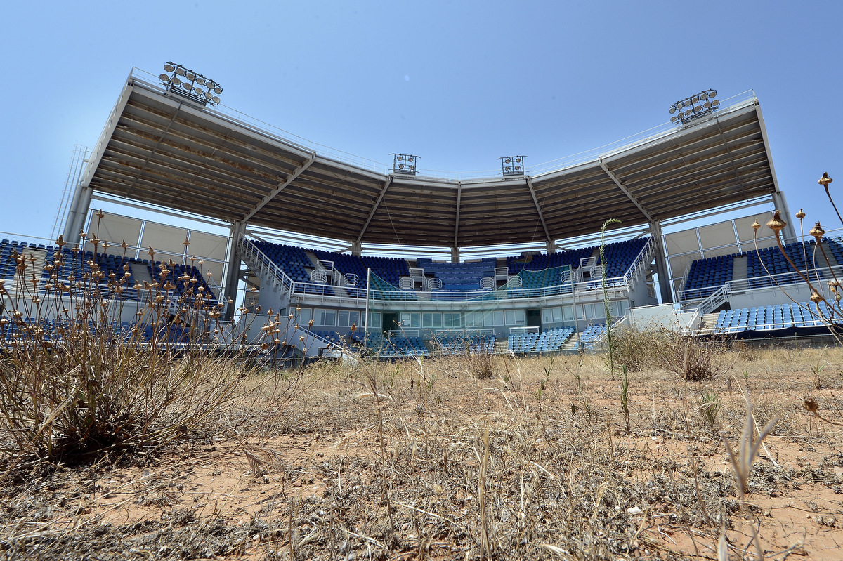 Athens' Olympic venues in ruins ten years after the games