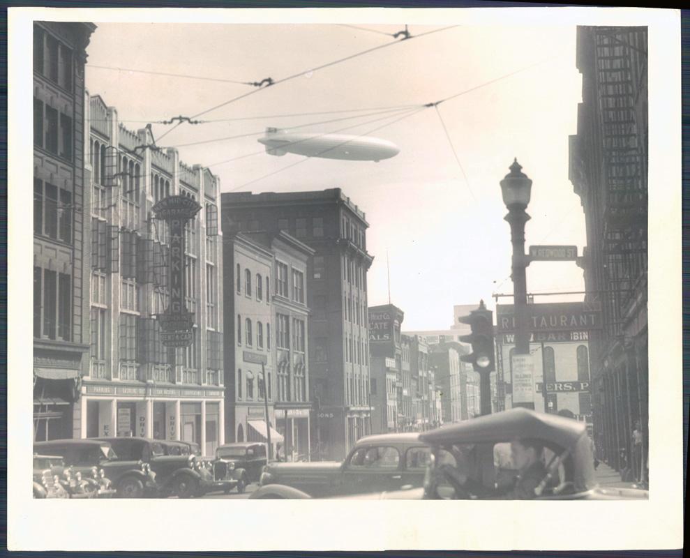 1936: Hindenburg circles Baltimore 9 months before the disaster