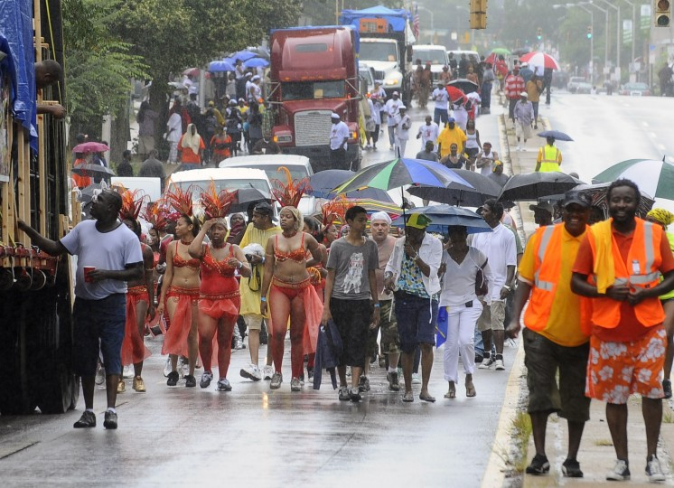 The Caribbean Festival at Druid Hill Park kicks off with a parade on Park Heights Avenue. (Kenneth K. Lam/Baltimore Sun/July 2010)