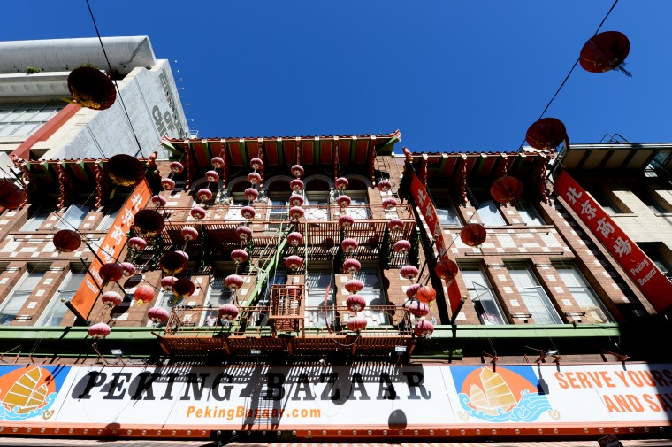Chinatown in San Francisco was much more active than in Los Angeles, and the decorations were much more extravagant.
