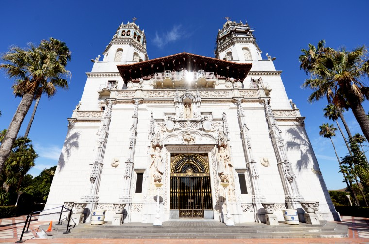 The Hearst Castle.