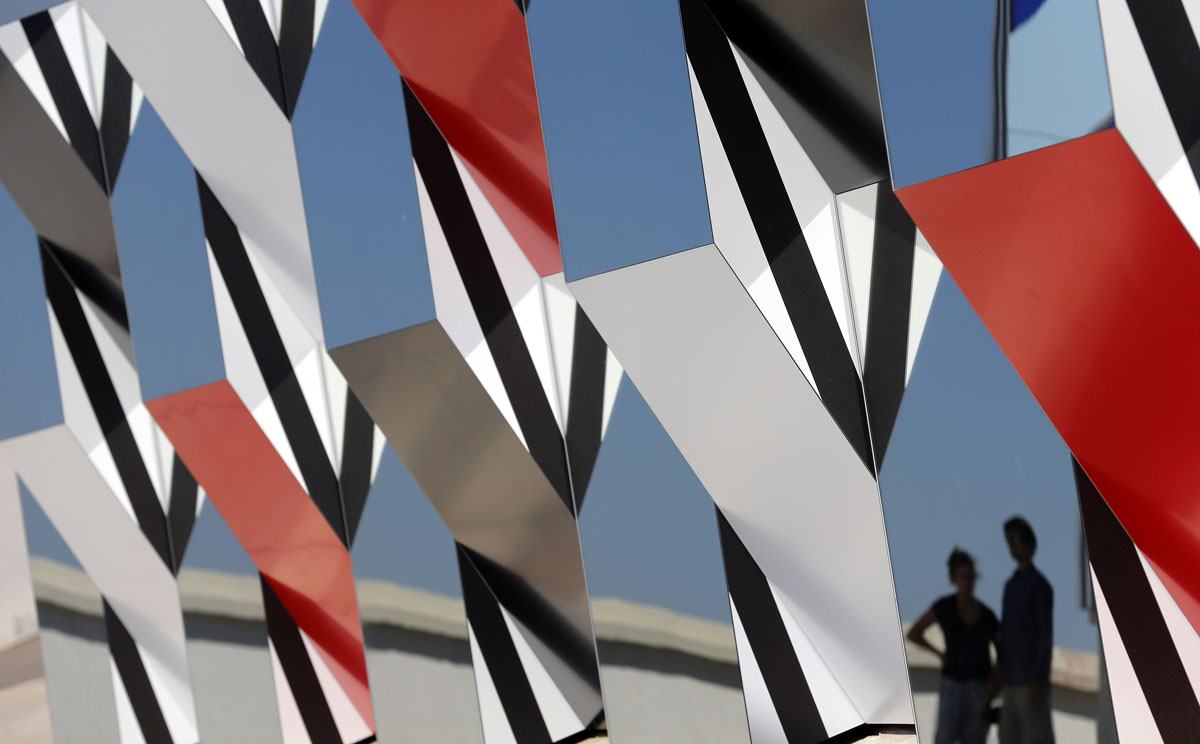 Exhibition by Daniel Buren at the MaMo art center in Marseille