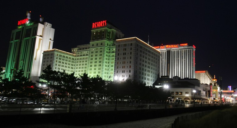 A view from the boardwalk of several casinos in Atlantic City, New Jersey, in this March 14, 2009 file photo. (Tim Shaffer/Reuters)