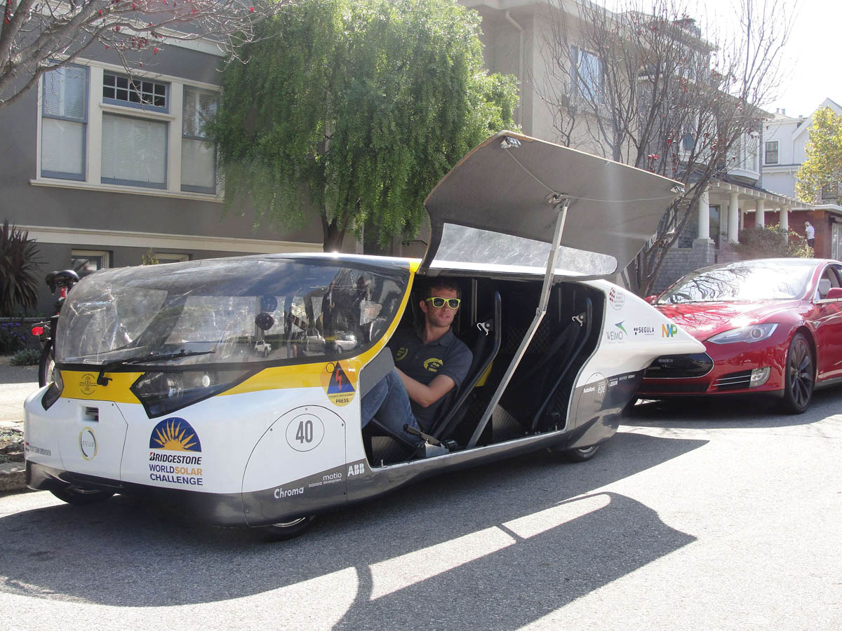 Driving a solar-powered family car