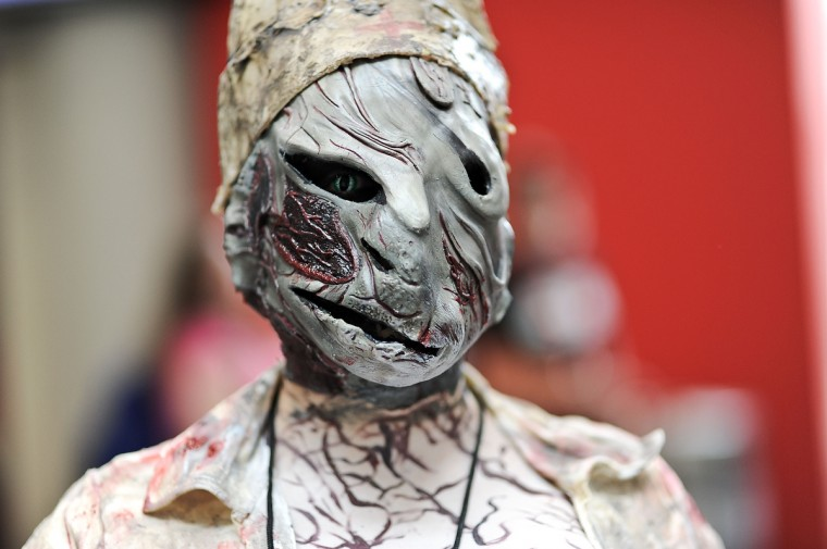 A Comic Con attendee poses as the nurse from Silent Hill during the 2014 New York Comic Con at Jacob Javitz Center. Daniel Zuchnik/Getty Images