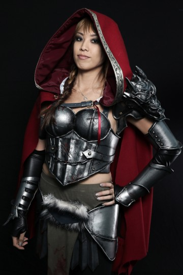 Comic Con attendee Jessica Lee poses as Warrior Red Riding Hood during the 2014 New York Comic Con at Jacob Javitz Center in New York City. Neilson Barnard/Getty Images