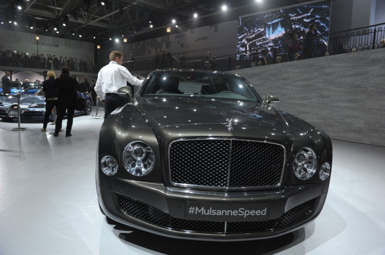 A Bentley MulsanneSpeed is presented at the Volkswagen Group Night show in Paris prior to the opening on October 2nd of the Paris Auto show 2014 Press days. Eric Piermont/AFP/Getty Images