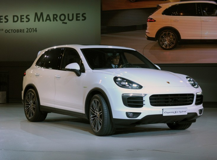 A Porsche Cayenne S e-hybrid is presented at the Volkswagen Group Night show in Paris prior to the opening on October 2nd of the Paris Auto show 2014 Press days. Eric Piermont/AFP/Getty Images