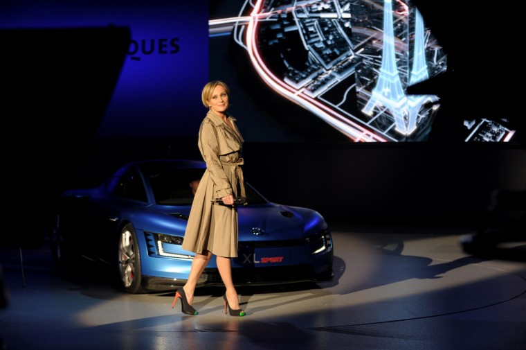 French singer Patricia Kaas sings at the end of the Volkswagen Group Night show in Paris prior to the opening on October 2nd of the Paris Auto show 2014 Press days. Eric Piermont/AFP/Getty Images