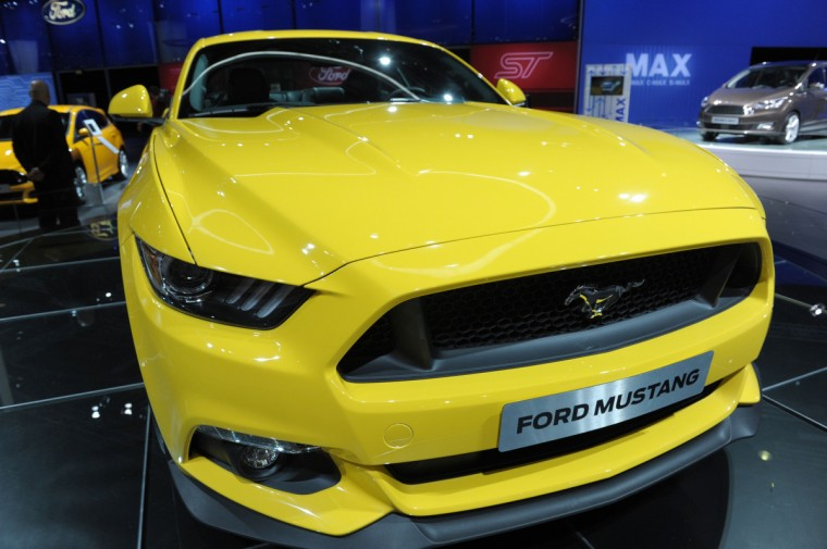 A Ford Mustang 2015 is displayed at the 2014 Paris Auto Show on October 2, 2014 in Paris, on the first of two press days. Eric Piermont/AFP/Getty Images