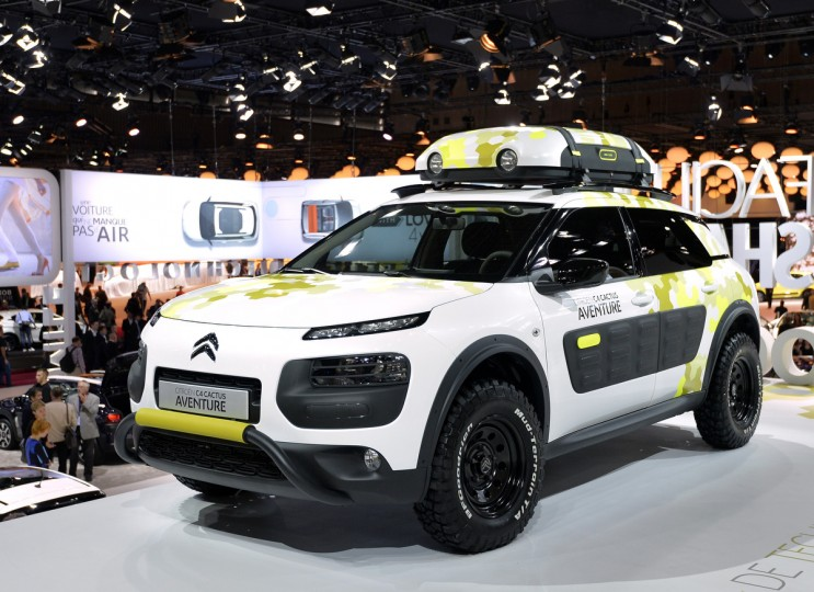 The new Citroen concept car C4 Cactus Aventure is presented at the 2014 Paris Auto Show on October 2, 2014 in Paris on the first of the two press days. Miguel Medina/AFP/Getty Images