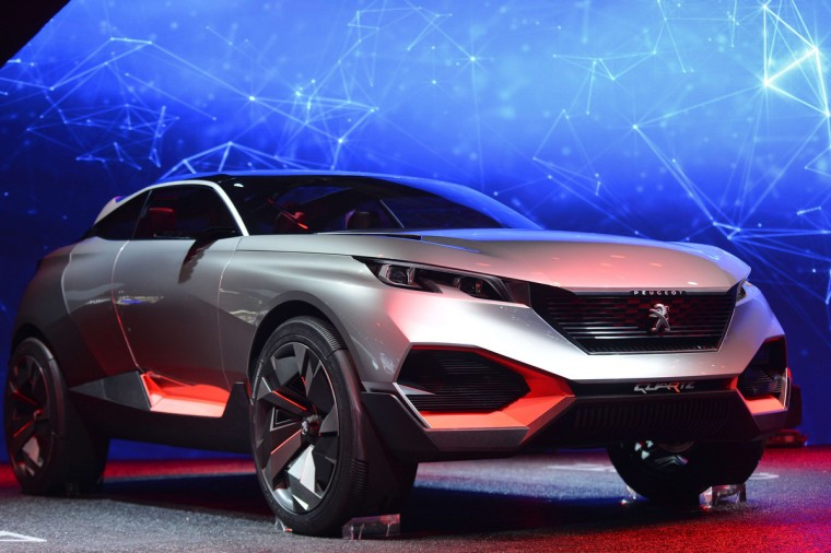 The new Peugeot Concept car Quartz is presented at the 2014 Paris Auto Show on October 2, 2014 in Paris on the first of the two press days. Miguel Medina/AFP/Getty Images