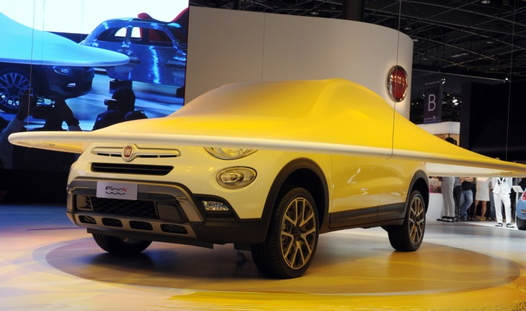 The Fiat 500 X is unveiled at the Paris Auto Show on October 2, 2014 on the first of the two press days. Eric Piermont/AFP/Getty Images
