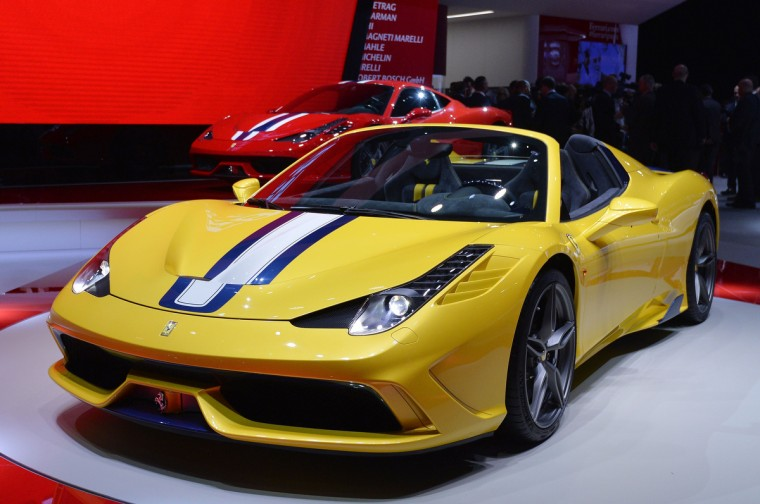The new Ferrari 458 M is presented at the 2014 Paris Auto Show on October 2, 2014 in Paris on the first of the two press days. Miguel Medina/AFP/Getty Images