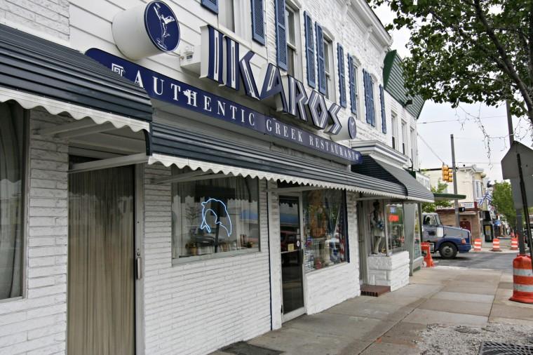 5/1/08: The Ikaros Restaurant in Greektown (Kathryn Whitney/Baltimore Sun)
