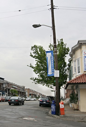 5/1/08: A Greektown sign outside Samos restaurant. (Kathryn Whitney/Sun Photographer)