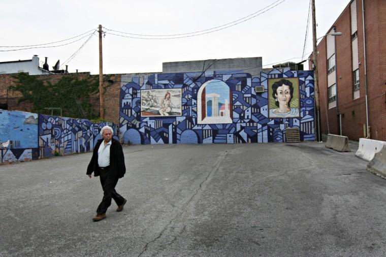 5/1/08: A beautiful mural in Greektown. (Kathryn Whitney/Sun Photographer)