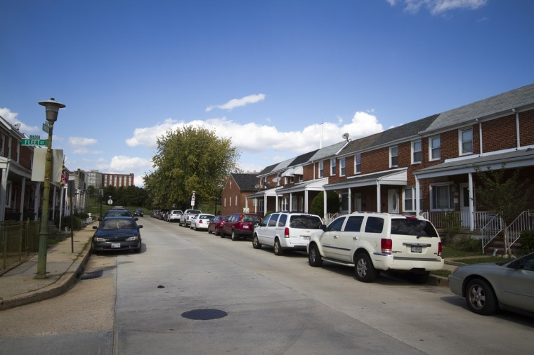Eclectic homes in Greektown. (Kalani Gordon/Baltimore Sun/Oct. 2014)