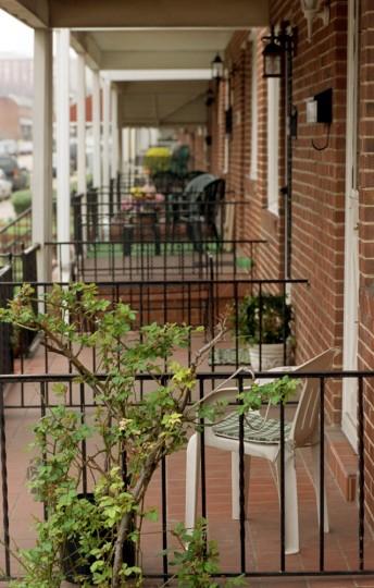 4/8/03: Porches on Umbra Street in Greektown. (Kim Hairston/Baltimore Sun)