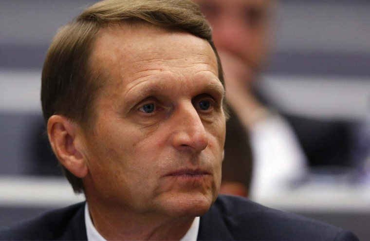 Russia's Speaker of the State Duma Sergei Naryshkin pauses before the opening session at the OSCE Parliamentary Assembly Autumn meeting in Geneva October 3.    || PHOTO CREDIT: DENIS BALIBOUSE  - REUTERS