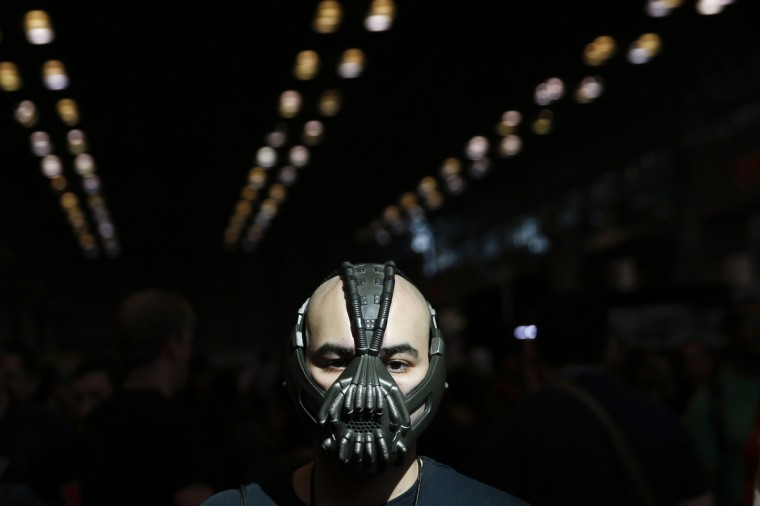 People wait in line to enter New York's Comic-Con convention October 9, 2014. The event draws thousands of costumed fans, panels of pop culture luminaries and features a sprawling floor of vendors in a space equivalent to more than three football fields in Javits Center. Shannon Stapleton/Reuters photo