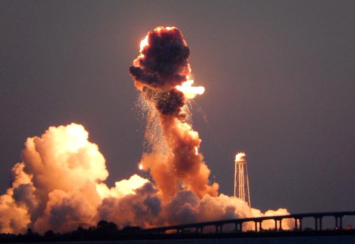 Unmanned Antares rocket explodes after liftoff