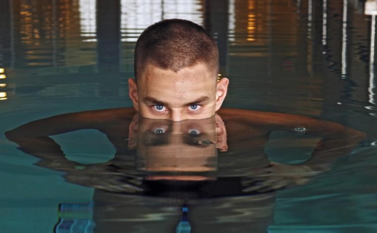 Profile picture of Havre de Grace swimmer Jeff Riley. (Kenneth K. Lam/Baltimore Sun)