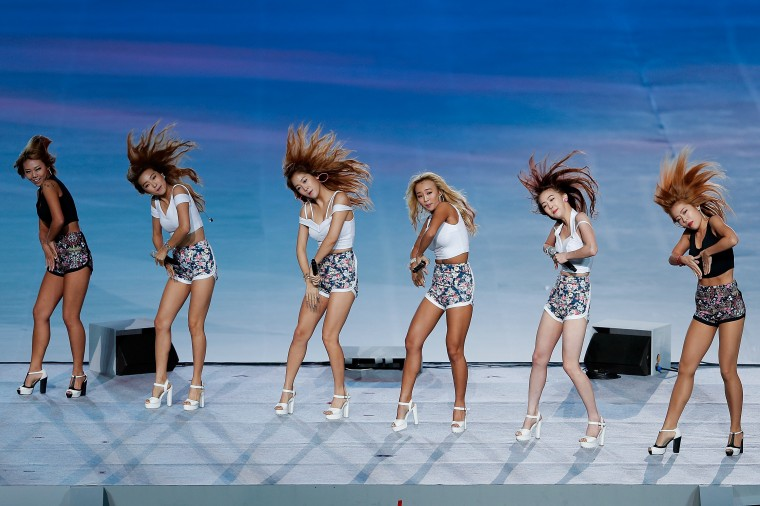 SISTAR perform during the Closing Ceremony of the 2014 Asian Games at Incheon Asiad Stadium in Incheon, South Korea. (Lintao Zhang/Getty Images)