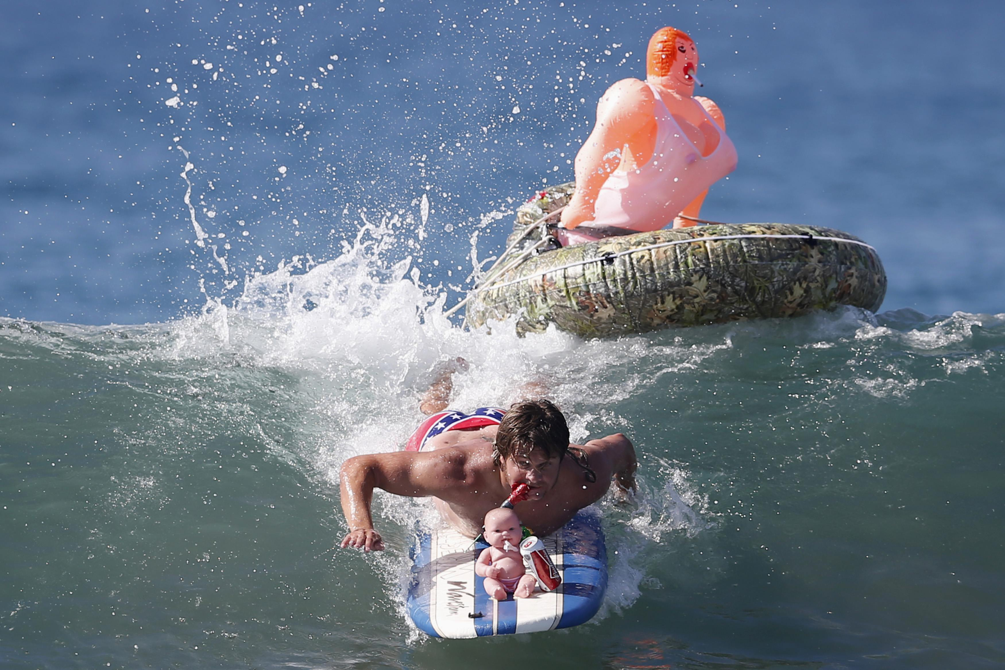 A halloween surf contest serena williams smashes her for Dog daycare santa monica