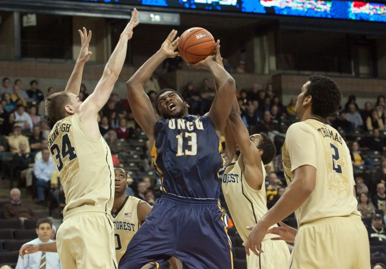 Name: Kayel Locke College: UNC-Greensboro Position: Forward Year: Junior High school: McDonogh Hometown: Baltimore 2013-14 stats: 11.6 points, 4.4 rebounds The first of two UNC-Greensboro players on the list, Locke as a sophomore established himself as one of the most consistent players in the Southern Conference. An undersized power forward at 6 feet 5, Lockey shot 46 percent from the field and 74 percent from the free-throw line — the 15th best percentage in the conference. He was the Spartans' third-leading scorer and rebounder. (Jeremy Brevard-USA TODAY Sports)