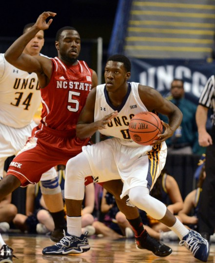 Name: Tevon Saddler College: UNC-Greensboro Position: Guard Year: Sophomore High school: St. Frances Hometown: Aberdeen 2013-14 stats: 12.5 points, 3.8 rebounds After earning Southern Conference Freshman of the Year honors, Saddler announced his intentions to transfer away from UNC-Greensboro. Butler, Boston College and Temple were among the schools reportedly interested in the former St. Frances star, but Saddler eventually decided to return to the Spartans. He started 27 of 32 games and was UNCG's second-leading scorer as a freshman. He enters this year as a preseason first-team All-SoCon selection. (Rob Kinnan-USA TODAY Sports)