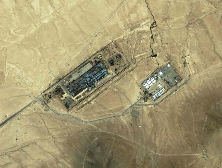 "KABUL, AFGHANISTAN:  After being anally penetrated, blindfolded, hooded, sedated and flown to Afghanistan, El Masri is believed to have been taken to a CIA black site known as the ""Salt Pit,"" (shown from above) according to European Court of Human Rights documents. A 2006 Washington Post article on such black sites states that El Masri was held at the site along with Marylander Majid Khan. El Masri has stated that prisoners were kicked, beaten, held in diapers and fed putrid water that made them vomit, among other mistreatments.  HO/AFP/Getty Images"