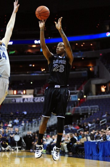 Name: Devante Wallace College: High Point Position: Guard Year: Senior High school: Dunbar Hometown: Baltimore 2013-14 stats: 12.6 points, 4.6 rebounds Wallace bided his time in a mostly supporting role during his first two college seasons. His junior year, however, was a breakthrough. Wallace, who led Dunbar to consecutive state championships, made 25 starts in 31 games and earned All-Big South honorable mention honors after shooting 49.1 percent from 3-point range for the season. Against Big South opponents, Wallace shot 59.3 percent from beyond the arc. (Evan Habeeb-USA TODAY Sports)