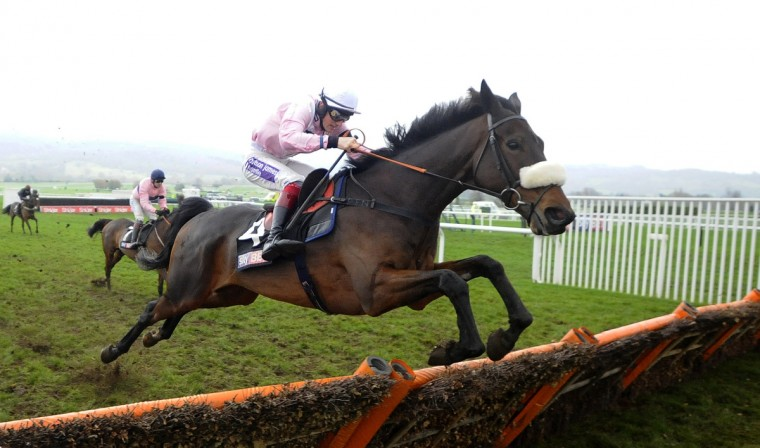 Sam Twiston-Davies riding Emerging Talent in action at Cheltenham racecourse in Cheltenham, England. (Photo by Alan Crowhurst/Getty Images)